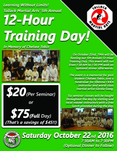 5th Annual 12-Hour Training Day Flyer