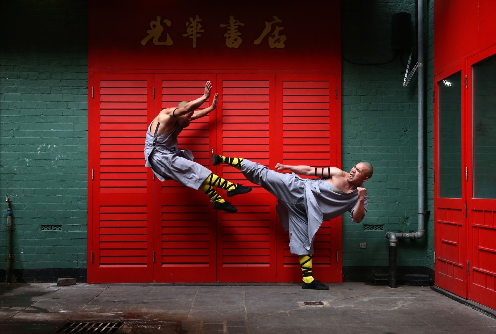 *** BESTPIX *** World Famous Shaolin Monks Come To London's Chinatown