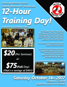 6th Annual 12-Hour Training Day Flyer