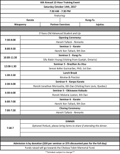 6th Annual 12-Hour Training Event Schedule