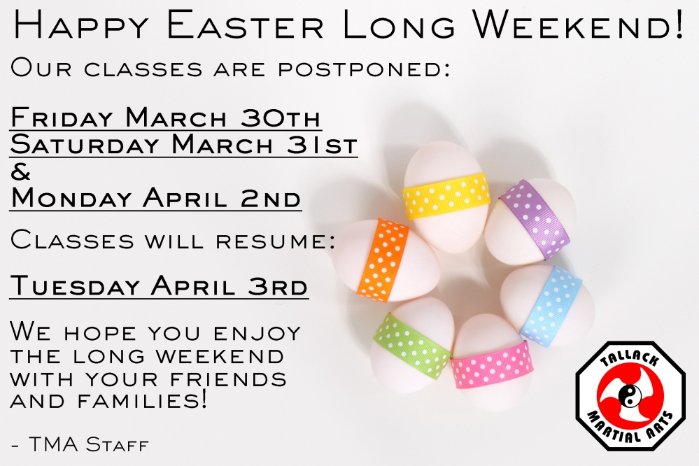 easter 2018 notice