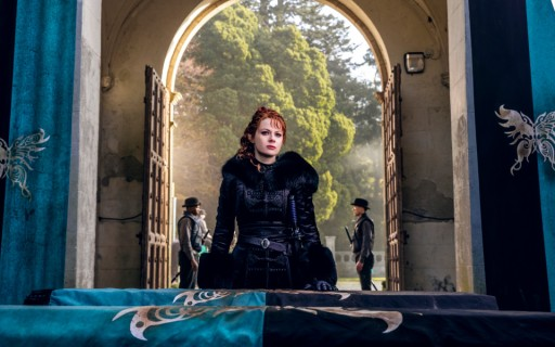 Emily Beecham as The Widow - Into the Badlands _ Season 3, Episode 1 - Photo Credit: Aidan Monaghan/AMC