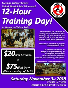 7th Annual 12-Hour Training Day Flyer