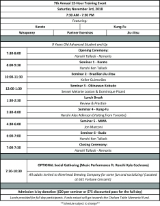7th Annual 12-Hour Training Event Schedule