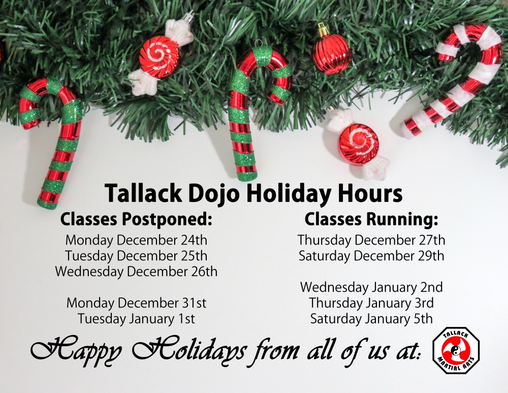TMA Holiday Hours 2018